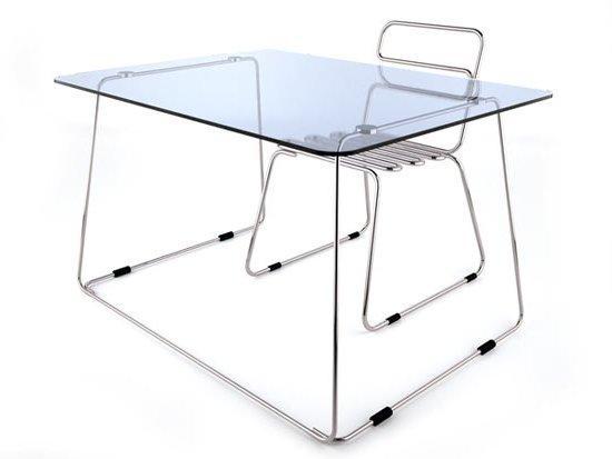 Bộ bàn ghế cách điệu cao cấp inox 304