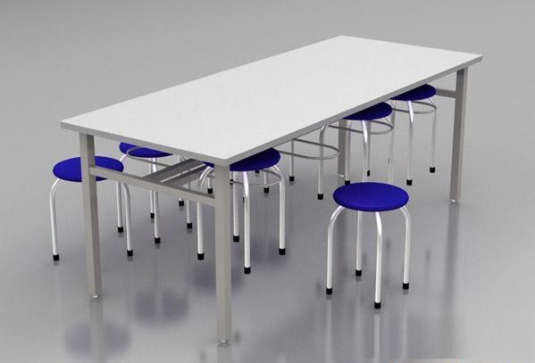 Bộ bàn ghế inox, nhà ăn công nghiệp
